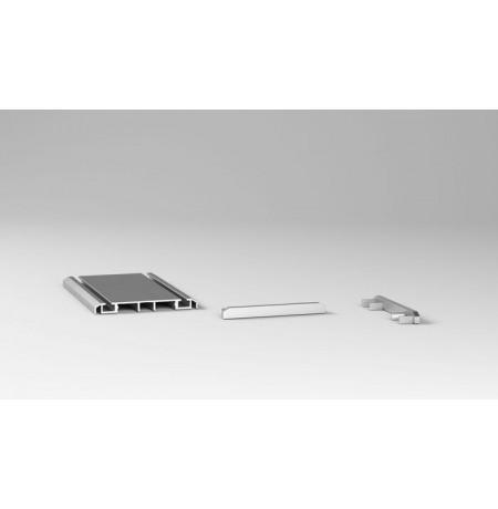 Apat.dvig. Bėgelio dangtelis aliuminio sp.
