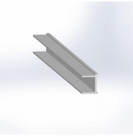 Rėmo stiklui 4mm vertikalus prof. 5.7m