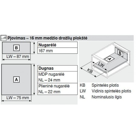 Tandembox Antaro stalčiaus sistema